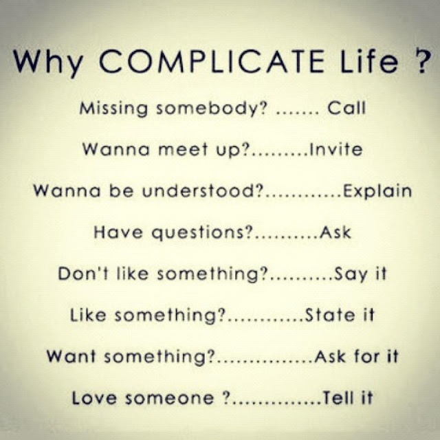 Exactly! Why complicate life?