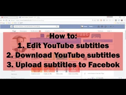How to edit and download YouTube closed captions upload