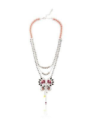 LK Designs Multi-Color Shiny Butterfly Necklace