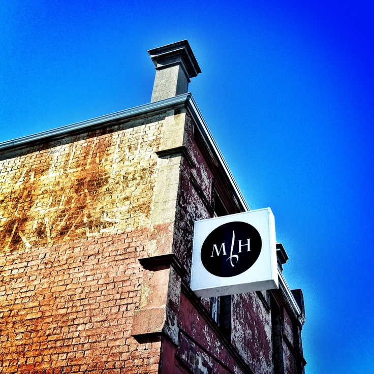 The new illuminated Mitchell Harris sign...