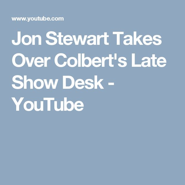 Jon Stewart Takes Over Colbert's Late Show Desk - YouTube