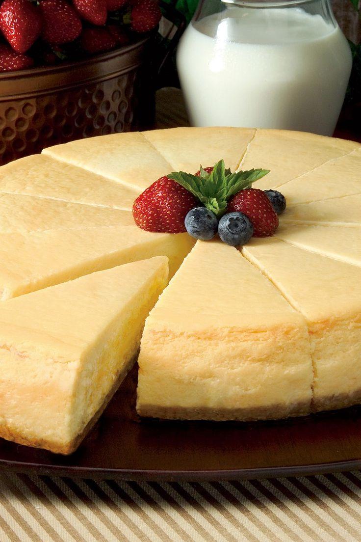 Course(s): Dessert; Ingredients: butter, cream cheese, egg, flour, graham crackers, milk, sour cream, sugar, vanilla extract