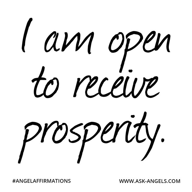 """I am open to receive prosperity."" ✧ ❁ ✽ ॐ ✽ ❁ ✧ #angelaffirmations"