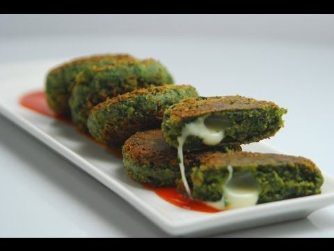 Spinach and Chana Kebab (Diabetic-friendly), Recipe in Hindi (पालक और चना के कबाब) by Tarla Dalal - YouTube