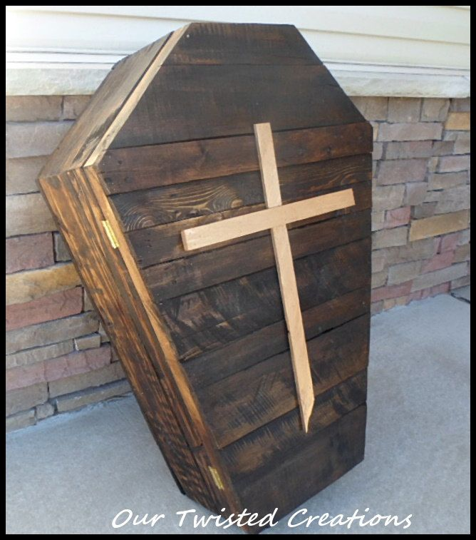 Wood Halloween Coffin Wood Casket Halloween Decorations
