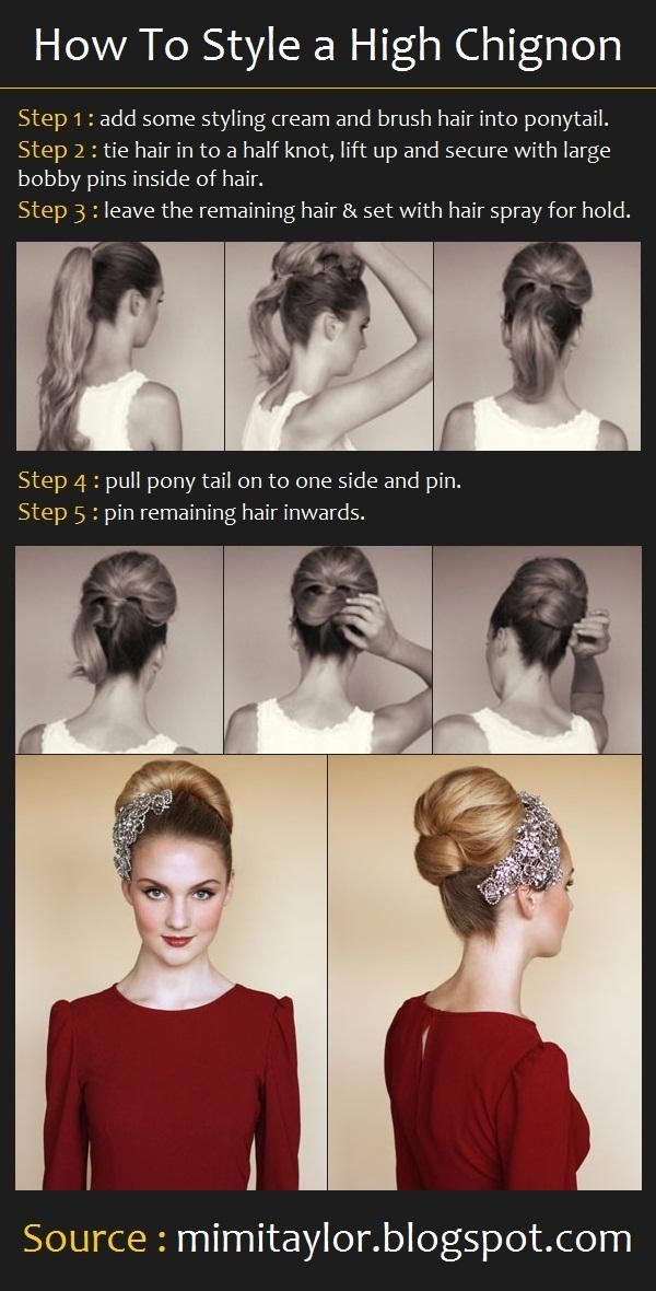 How to style a high chignon