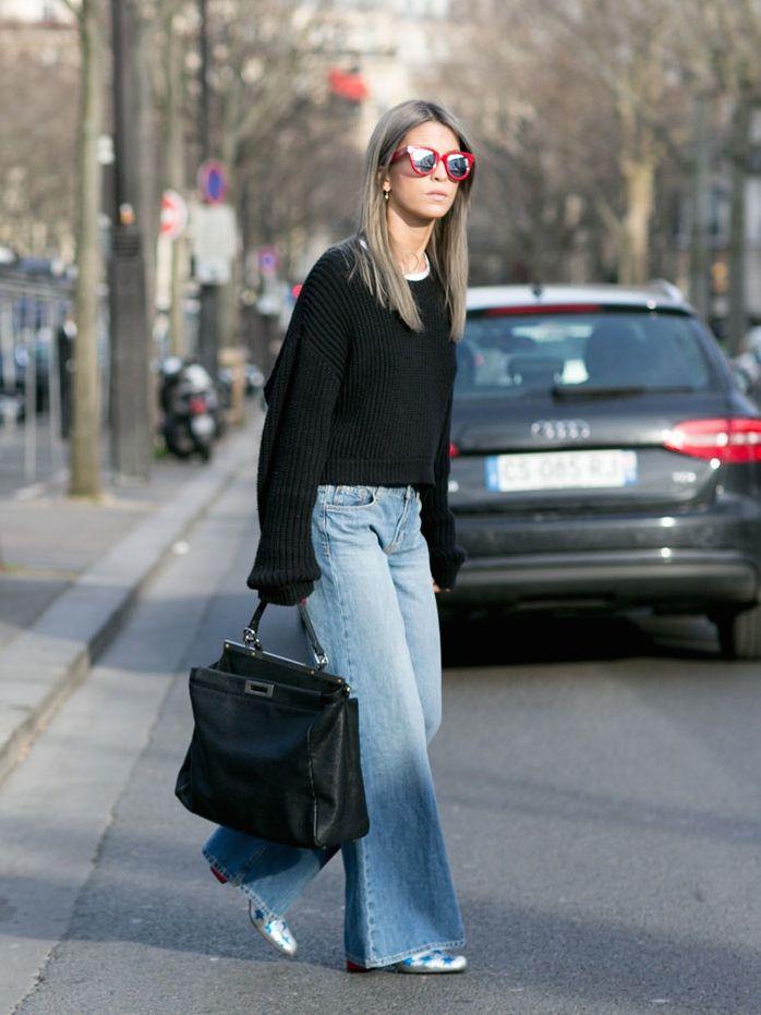 wide leg denim. #CarolaBernard in Paris.