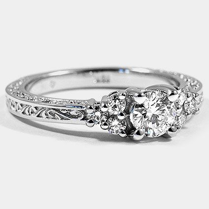 Love the rim ----Bobby Vintage Ring Scroll Setting | Brilliant Earth Engagement Rings