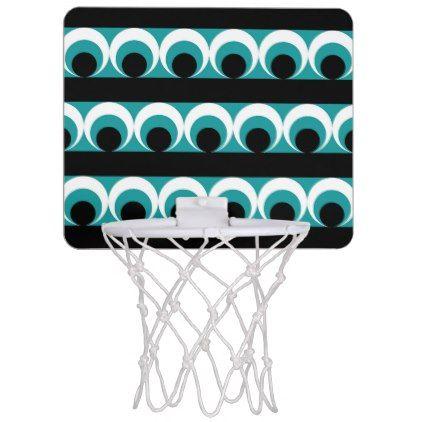 Geometric pattern mini basketball backboard - pattern sample design template diy cyo customize