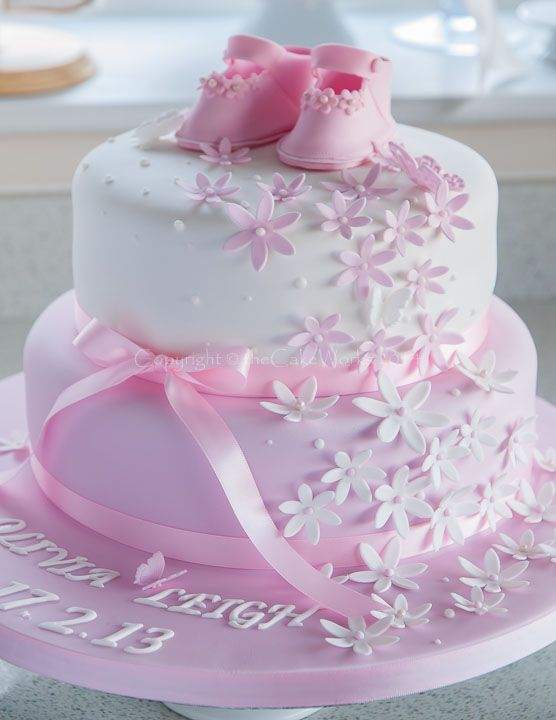 Cake Design For 2 Year Old Baby Girl : 25+ best ideas about Christening Cake Girls on Pinterest ...