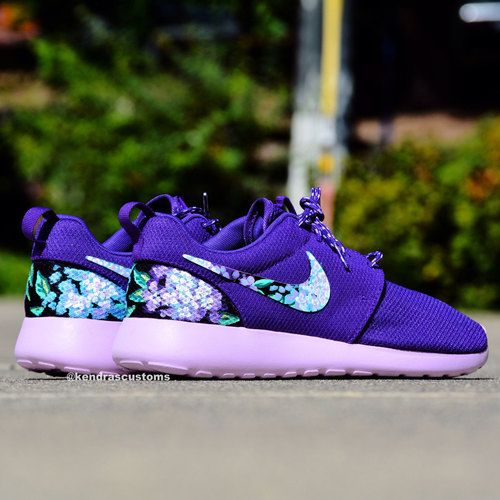 womens nike roshe run all purple