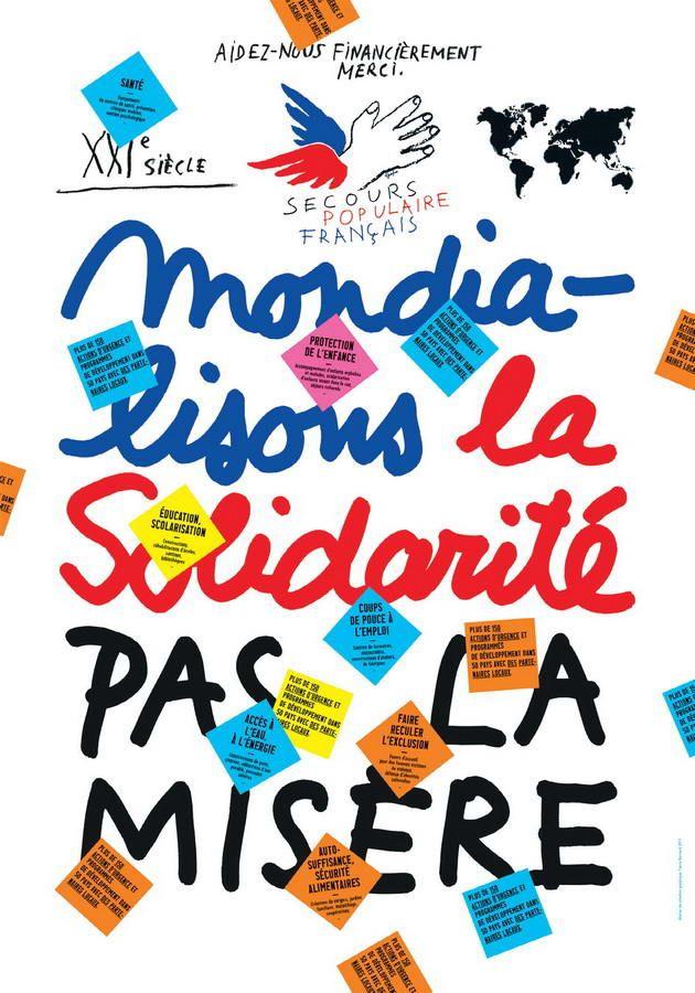 poster / affiche by Pierre Bernard (France, Paris) pour le Secours Populaire