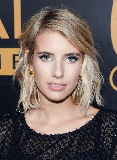 Emma Roberts with a Short, Blonde, Edgy, Tousled Hairstyle Pictures