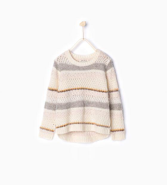 Afbeelding 1 van Tricot trui met garen van Zara