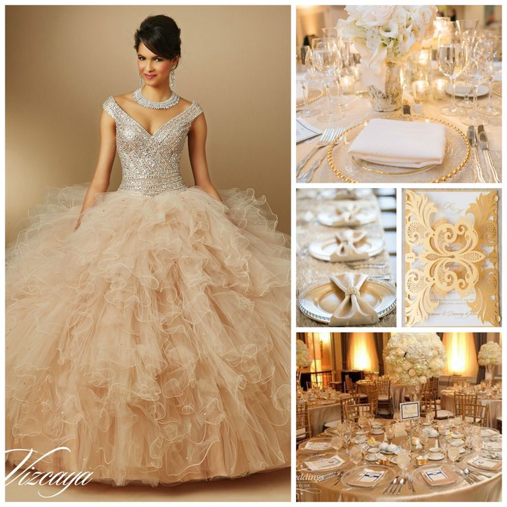Gold and Silver Quinceanera Theme | Party Ideas | Quinceanera Ideas |