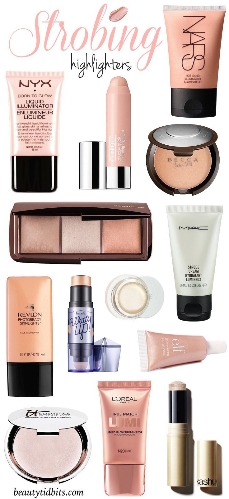 How to apply a highlighter for strobing & the best products to use! #makeuptips