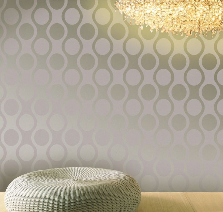 Empapelado c rculos beige papel de parede colecci n for Papel decomural muresco