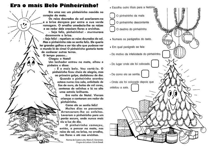 Atividades de Interpretação de Texto sobre Natal - Era o mais belo pinheiro – Educação e Transformação
