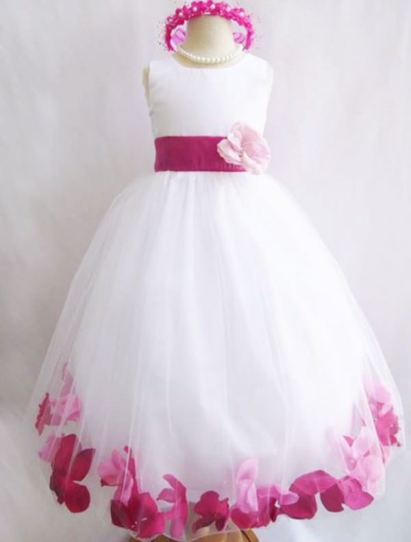 Robe de demoiselle d'honneur Angel fuschia / rose - Ma Robe Pas chère.fr