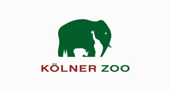 This logo uses white space very cleverly. They take into account space between the elephant and make it look like others animals, thus representing the zoo. This icon is paired with a modern easily read font. The over all look is creative, yet professional.
