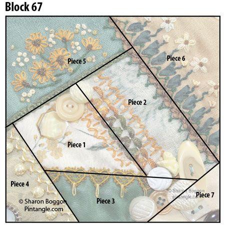 Crazy quilt block 67 design