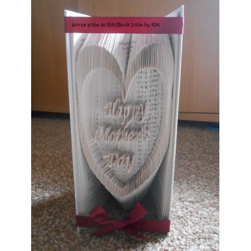 HAPPY MOTHER S DAY HEART Book Folding Patterns / Templates and Book Folding Software on Bookami®