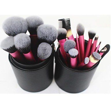 22pcs Professional Makeup Brush Set with Cylinder Case. Category:Makeup Brushes Set;Quantity (pcs):22;Brush Hair Material:Synthetic Hair;Application:Lip Eye Face;Blushes Brush hair:Artificial Fibre Brush;Quantity:9;Style:Big Brush;Lenth(cm):18;Eyeshadows Brush hair:Artificial Fibre Brush. Quantity:6;Style:Middle Brush;Lenth(cm):17;Lip Brush Bristle:Artificial Fibre Brush;Quantity:7;Style:Small Brush;Lenth(cm):20;.