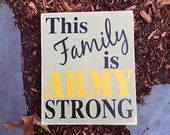 This Family is Army Strong Quote, Army Strong, Semper Fi, Navy, Marines, Soldier Gift, Military Gift,  Military Sayings, Wooden Sign, Handmade Sign, Simply Fontastic, Etsy, Made in the USA
