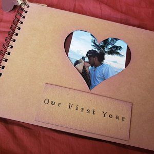 Long distance relationship gift for guys, deployment gift, gift for a boyfriend or a girlfriend, our story so far diy boyfriend scrapbook
