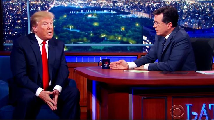 Watch Donald Trump's Unapologetic Stephen Colbert Interview Republican front runner discusses his Great Wall of Mexico and Barack Obama's birthplace