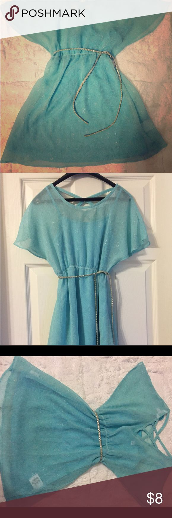 Girls Sally Miller dress Girls size 8 Sally Miller dress. Light Turquoise with braided silver belt. Used, in excellent condition Sally Miller Dresses Casual