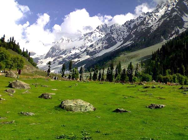 Situated at the confluence of the streams flowing from Lidder river and Sheshnag Lake in Kashmir, Pahalgam isn't merely a hill-station. It is a recreation resort. Breathtaking vistas of meadows of Baisaran, beautiful snow-clad Himalayan mountains, combined with the gently flowing Lidder River makes Pahalgam a feast for the eyes.