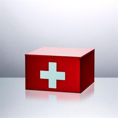 Super flot førstehjælpskasse. God plads til dine plastre, og nem at åbne - også for børn. Fås i to størrelser fra kr. 449 på www.funkyneon.dk