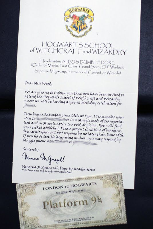 Harry Potter Birthday Party Invitation - What we did for our 11 year old's party!