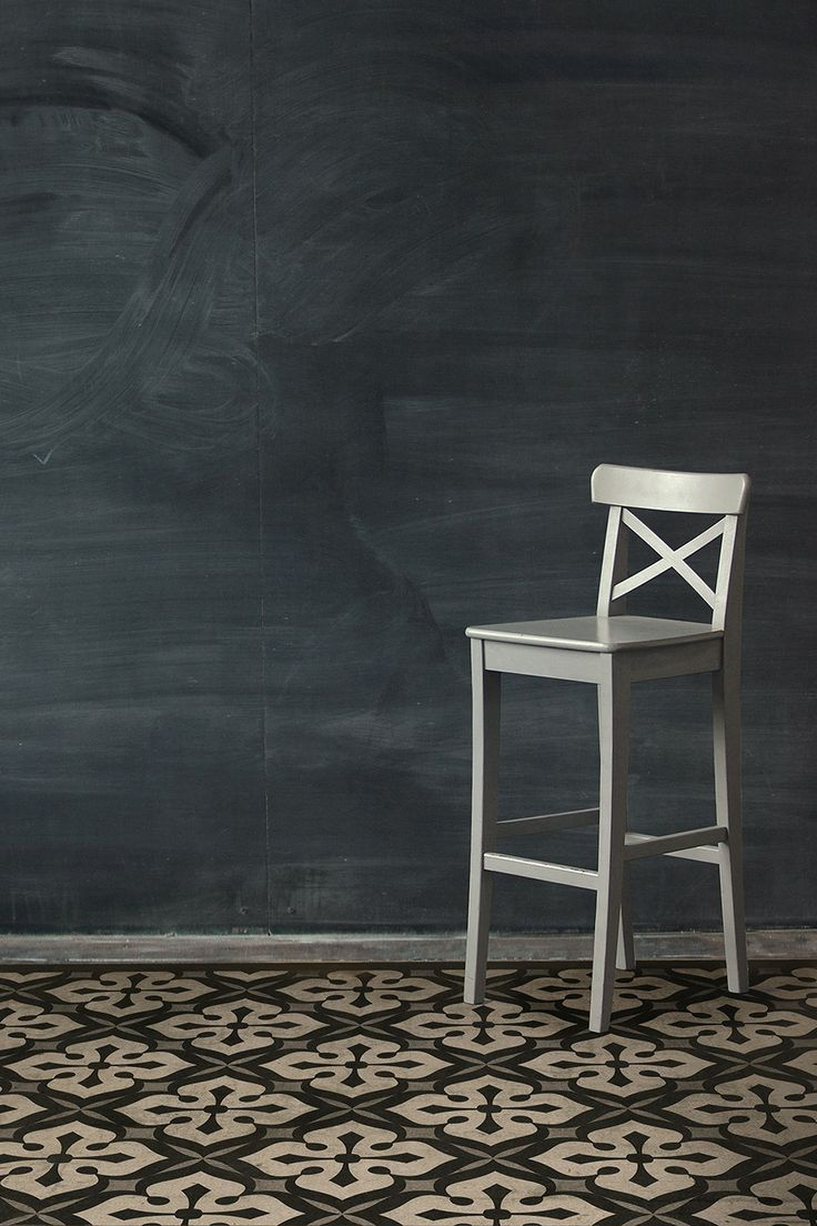 E9 Black on White Fade-Resistant Floor Cloth for High Traffic Areas on HauteLook