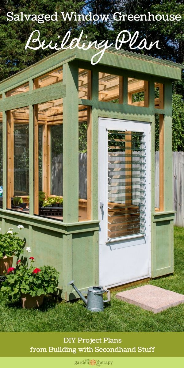 Old Window Greenhouse - this beautiful greenhouse used to be a bunch of discarded windows without a use. With a lot of creativity and a little know-how, they were transformed into the gorgeous structure you see here.
