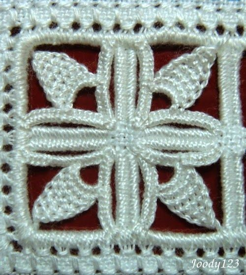 Reticello filling ~ by Joody 123 Whitework Embroidery