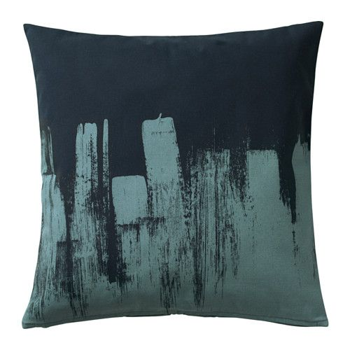 IKEA SLÖJGRAN Cushion cover Blue 50x50 cm The zipper makes the cover easy to remove.