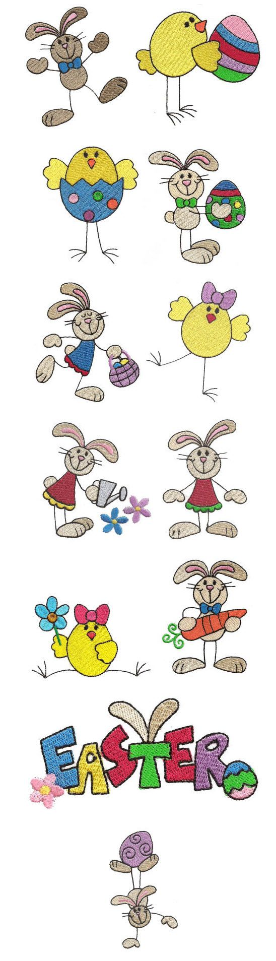 Embroidery | Free Maching Embroidery Designs | Easter Stix