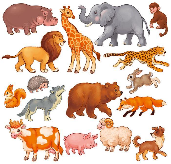 Просмотреть иллюстрацию Животные в ассортименте из сообщества русскоязычных художников автора Вера Север-Баннова в стилях: Детский, нарисованная техниками: Растровая (цифровая) графика.