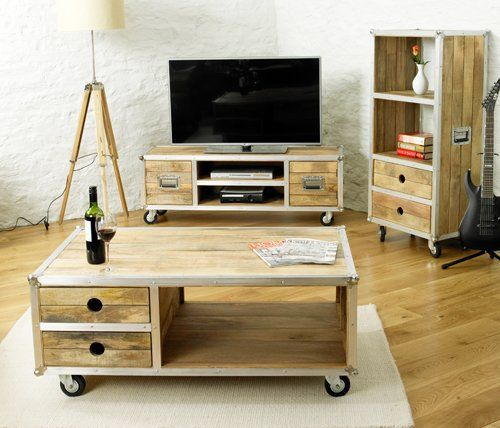 Stunning contemporary open coffee table with two drawersThe sensational and…