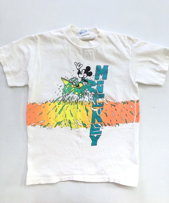 973b31c51 Mickey Mouse Surf T-Shirt      80s 90s    in 2019   Shirts, T shirt ...