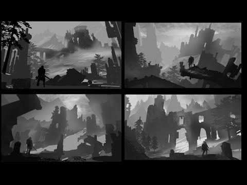 Environment Design Week 02 : Value Sketching - YouTube