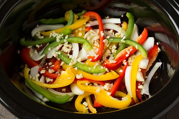 Slow Cooker Chicken Fajitas | Cooking Classy-ask me how this will fit for you