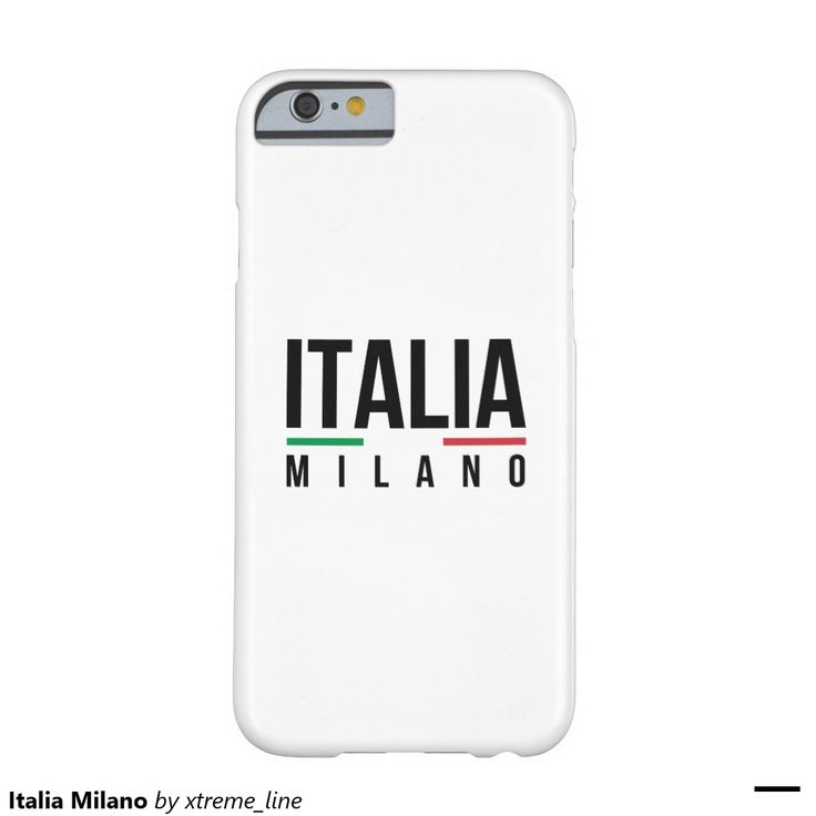 Italia Milano Barely There iPhone 6 Case.
