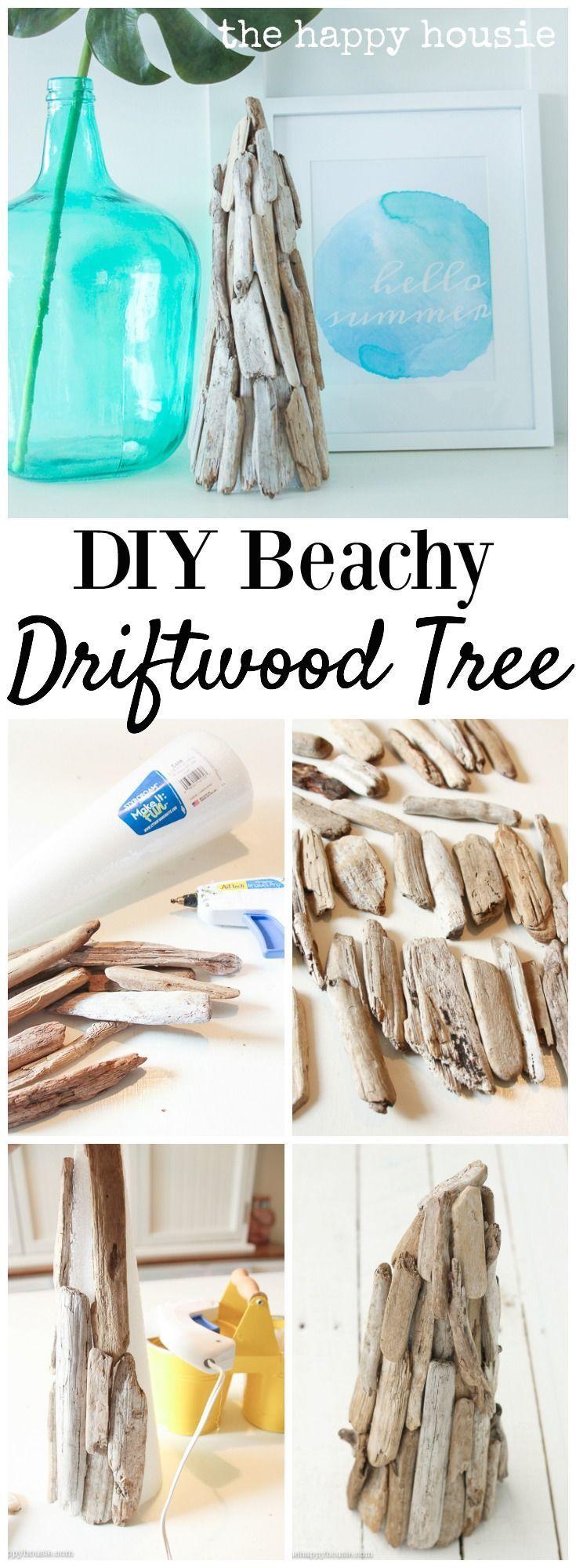 diy beachy decor driftwood tree - Beachy Decor