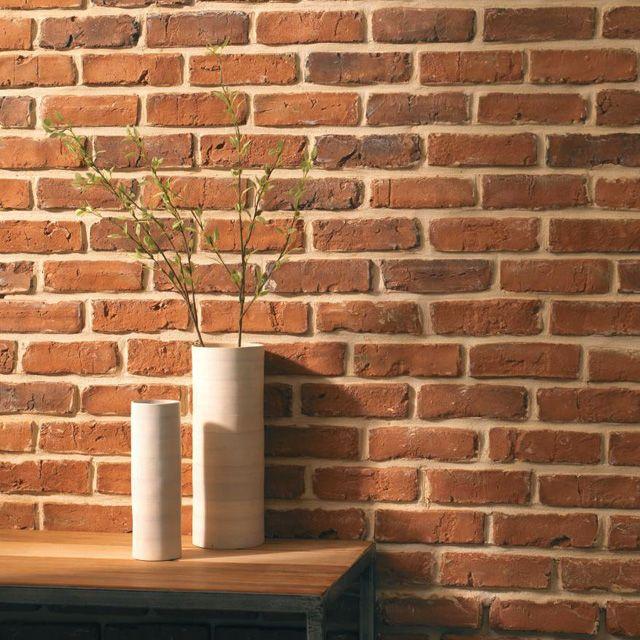 1000 id es sur le th me mur de chemin e de briques sur - Peindre cheminee brique rouge ...