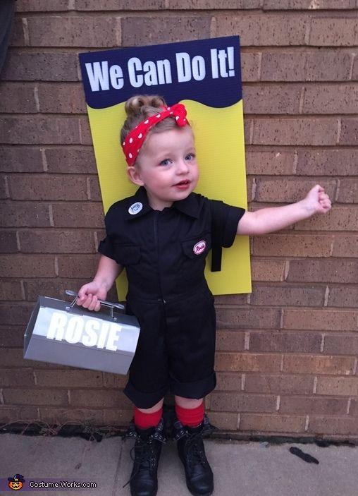 Rosie the Riveter Cute Toddler Halloween Costume