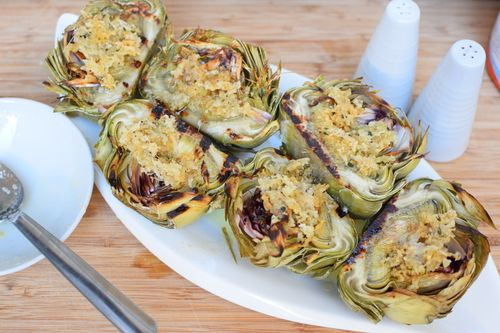 grilled artychokes with parmesan cheese