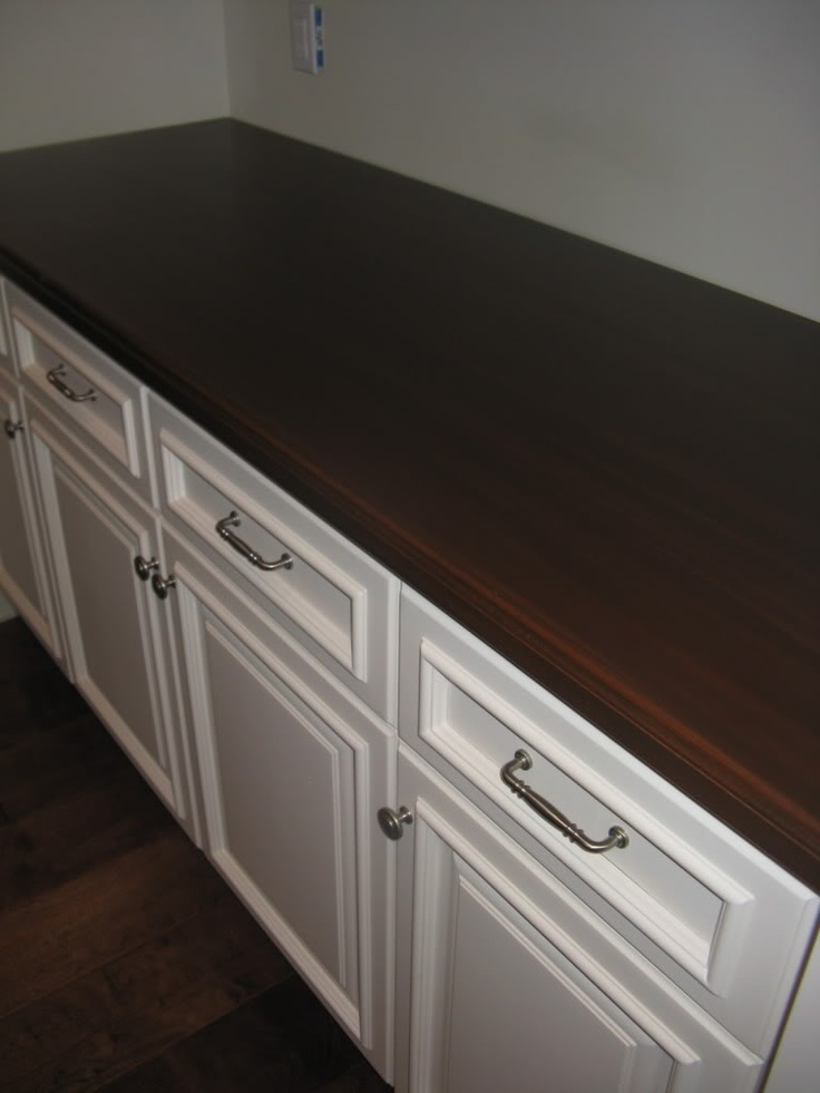 Ikea Countertop Materials : Ikea countertops with rounded edge and dark stain - beautiful